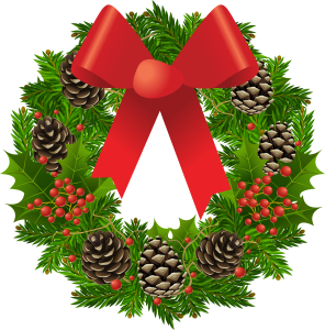 This image has an empty alt attribute; its file name is Wreath-296x300.png